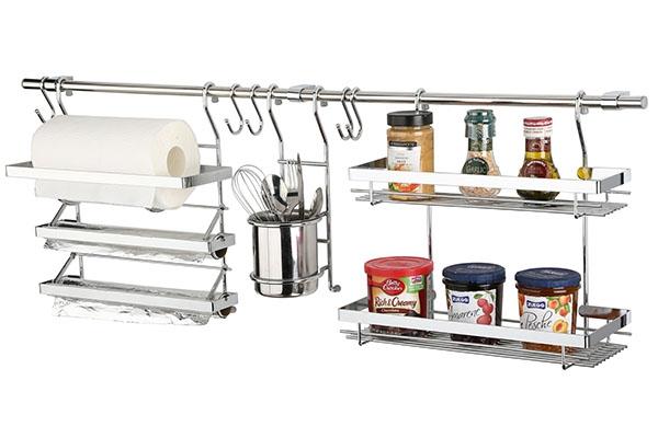 拉篮能将厨具及餐具分放在网架中,既方便又整洁