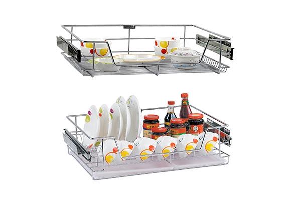 一个厨房拉篮可以提高厨房的秩序感